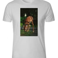 Bambi Deer Eating Grass Triangle Swagzilla
