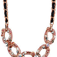BetseyJohnson.com - LINK FRONTAL NECKLACE PINK