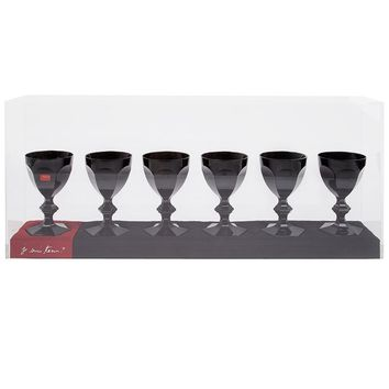 Baccarat set of six baccarat crystal glasses