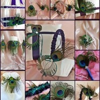 Peacock Weddings Lapis and Teal 19pc Accessories Set