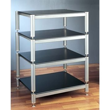 BL Series 4 Tall Shelf Audio Video Rack Multiple Finishes