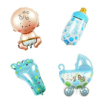 Super Fun It's a Boy Baby Shower Foil Fun Shaped Inflatable Balloons