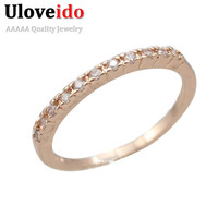 Rose Gold Plated Ruby Jewelry Topaz Cute Rings Bague Anneau Femme Women Love Forever 2016 Ring Band Aneis Zirconia Size 10 J029