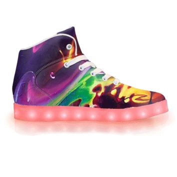 Soul Spill by Brian Scott - APP Controlled High Top LED Shoes