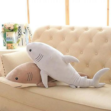 Plush Ocean Cartoon Shark Toys Soft Cute Pillow Super Soft Stuffed Animal Shark Dolls Best Gifts for Kids Friend Baby 21""