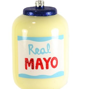 Real Mayo Glass Ornament