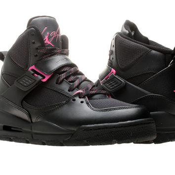 Nike Air Jordan Flight 45 TRK (GS) Black/Pink Girls Basketball Shoes 467956-006