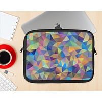 The Colorful Vibrant Triangle Connect Pattern Ink-Fuzed NeoPrene MacBook Laptop Sleeve