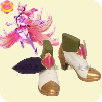 Hot Game LOL Ahri The Nine-Tailed Fox Cosplay Shoes Hot Sale Beautiful Custom Made Lolita Shoes