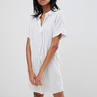 Whistles Striped Lola Shirt Dress at asos.com