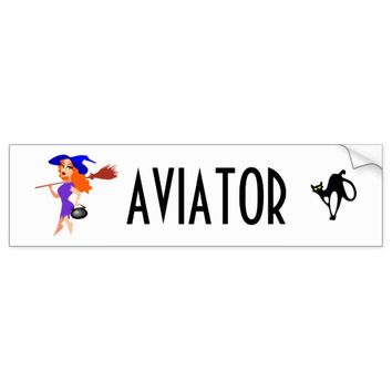 Aviator funny customizable bumper sticker