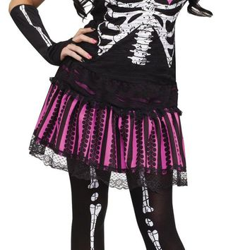 Sally Skelly Adult Md Lg 10-14 Costume