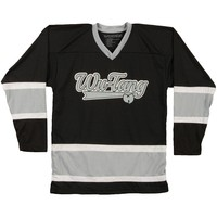 Wu Tang Clan Men's  #36 Logo Hockey Jersey Hockey Jersey Black