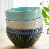 Embossed Ceramic Bowl | Urban Outfitters