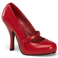 Pin Up Couture Cutiepie Red Patent Baby Doll Pumps