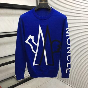 Moncler 2019 autumn and winter new men and women sweater trend couple models print