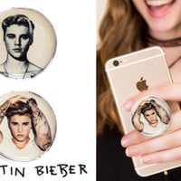 Justin Bieber Universal POP OUT Grip Holder Mount Stand for Phone Tablet iPhone | eBay