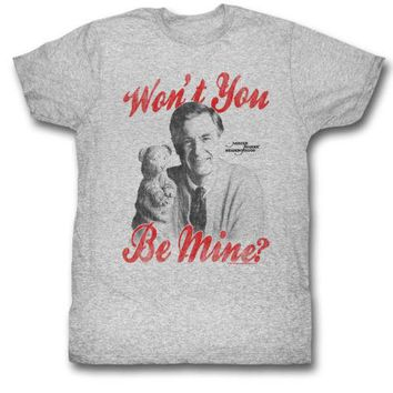Mister Rogers Be Mine Mens T-Shirt