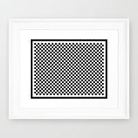 Checkers Framed Art Print by Kathleen Sartoris