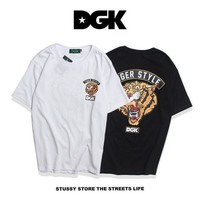 DGK Couple Short Sleeve Hip-hop T-shirts