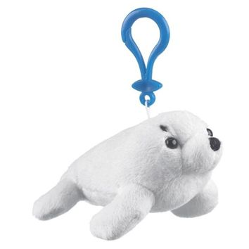 5 Inch Harp Seal Pup Stuffed Animal Clips for Kids Backpack Toy