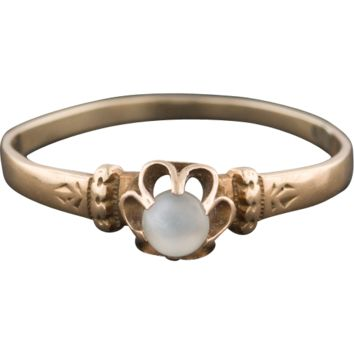 Antique Victorian 14k Gold Moonstone Ring