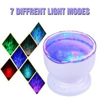 Ocean Wave Projector Night Light with Built-in Mini Music Player for Living Room and Bedroom
