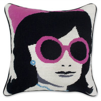 FIRST LADY NEEDLEPOINT THROW PILLOW