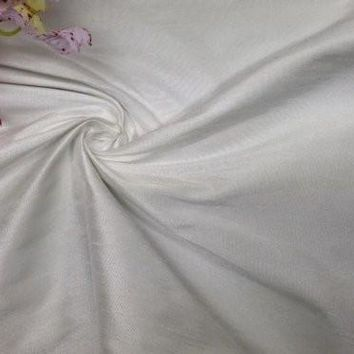 "60"" 100% Poly Dupioni Faux Silk Fabric, Good for Table Cloth, Dresses, etc.,2 Yrd Lot, Ivory"
