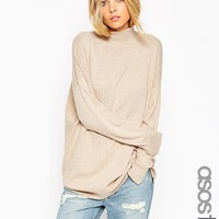 ASOS TALL Tunic With High Neck In Cashmere Blend