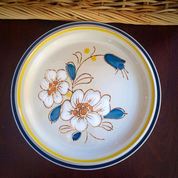Ascons Stoneware Serving Platter or Chop Plate, Master Piece Design, Great Oversized BBQ Platter for Vintage 1970s Kitchen