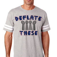 Deflate These 2 Unisex  NFL Tee Football Jersey New England | NFL Tee Shirts Jerseys | New England Patriots Shirts | Women and Men NFL