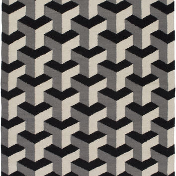 Surya Rivington Geometric Area Rug Gray