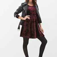 FOREVER 21 Velveteen Skater Dress