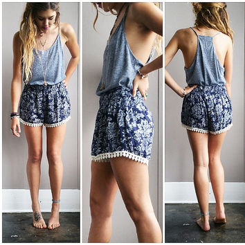 A Basic Halter Tank in Faded Blue