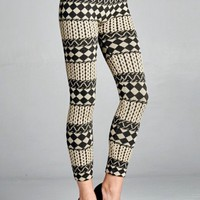 Diamond Print Fleece Leggings