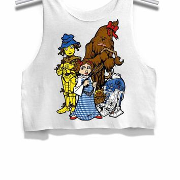 DCCKL83 Star Wars Funny Face Womens Crop Tank Top