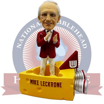 """Mike Leckrone """"On, Wisconsin"""" Musical Band Bobblehead"""