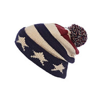 Red stars and stripes beanie