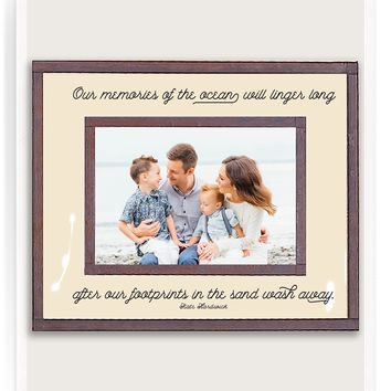 Our Memories Of The Ocean Copper & Glass Photo Frame