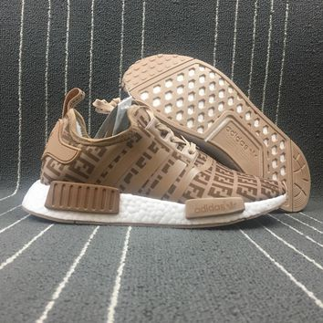 Adidas Boost Fendi x Nmd R1 Women Men Fashion Trending Running Sports Shoes Sneakers