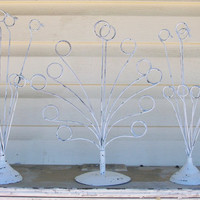 3 Shabby Chic Chippy White Picture Holders