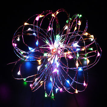2M 3M  4M 5M Battery Operated Copper String Fairy Lights for Christmas Trees Outdoor Party Xmas Wedding Lighting Decorative