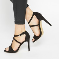 Warehouse T Bar Heeled Sandals