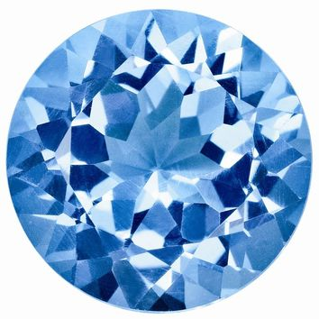 Loose Blue Topaz Gemstone  4mm Round AA Quality