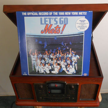 Vinyl Record - New York Mets - Let's Go Mets! - Official Record of the 1986 New York Mets
