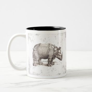 Dürers Rhinoceros Two-Tone Coffee Mug