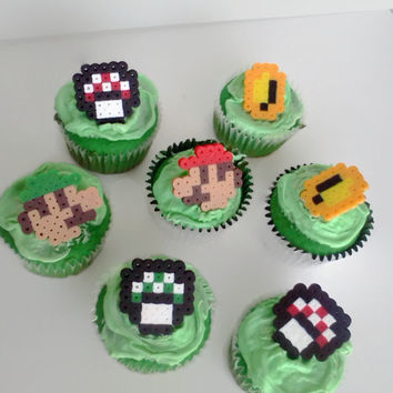 Super Mario Bros Cupcake Toppers