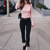 Black Frayed Jeans by Just Black