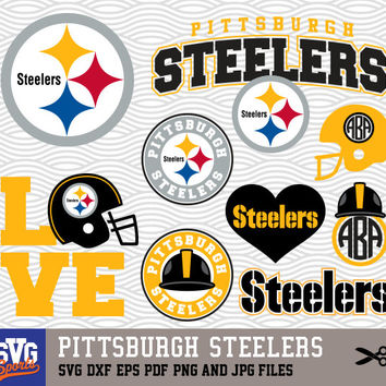 PITTSBURGH STEELERS SVG logos, monogram silhouette, cricut, cameo, screen printing Sp-04